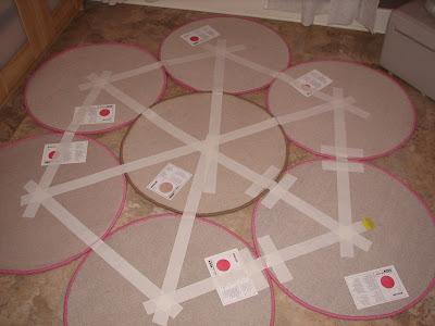 kid's daisy rug