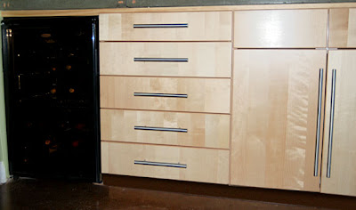 narrow kitchen drawers