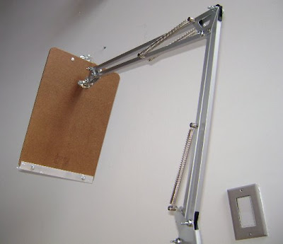 movable reading boom arm