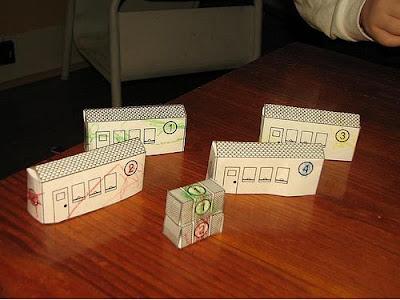 paper train set