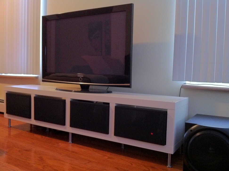 clean minimalist tv stand get home decorating. Black Bedroom Furniture Sets. Home Design Ideas