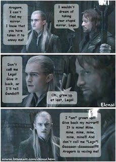 Growing in His Amazing Grace: More Lotr jokes!