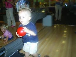 Daxton, quite a little bowler
