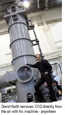 David Keith works to remove CO2 directly from ambient air