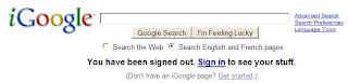 iGoogle Login