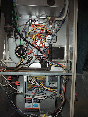 furnace wiring, circuit board, thermostat