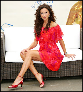 Best Celebrity Legs Sofia Milos Has Long Legs In Strappy