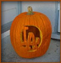 Sons Of Steve Garvey Dodger Pumpkin Stencils Teach Youngsters