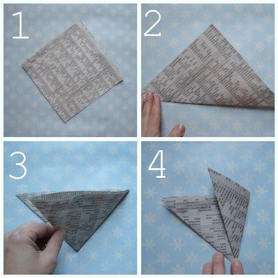 maya*made: newspaper snowflake garland: a tutorial