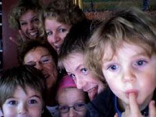 Fanny met kinderen en kleinkinderen