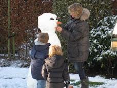 Sneeuwpop voor opa