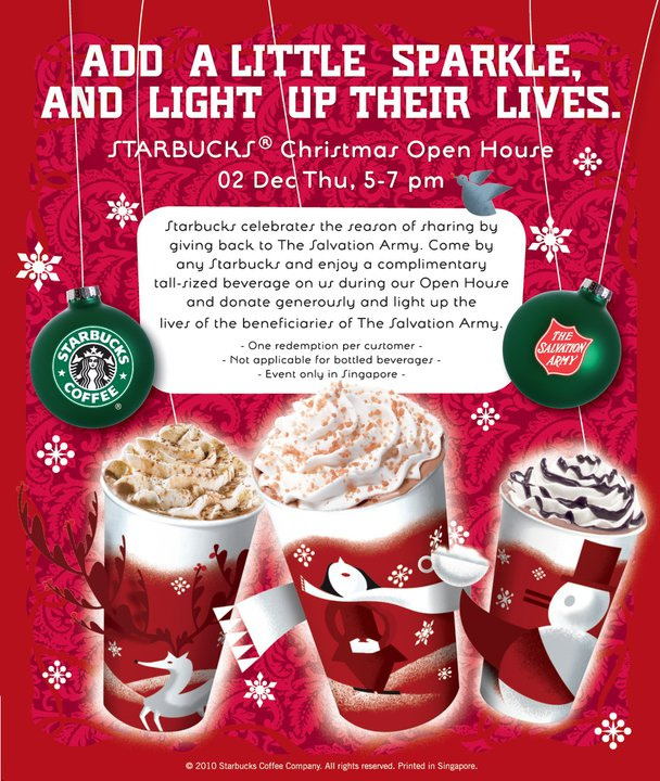 Starbucks Open Christmas Eve.Tua Lobang Starbucks Christmas Open House On 2 Dec 5 7pm