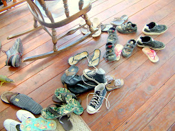 Kids Shoes On Front Porch