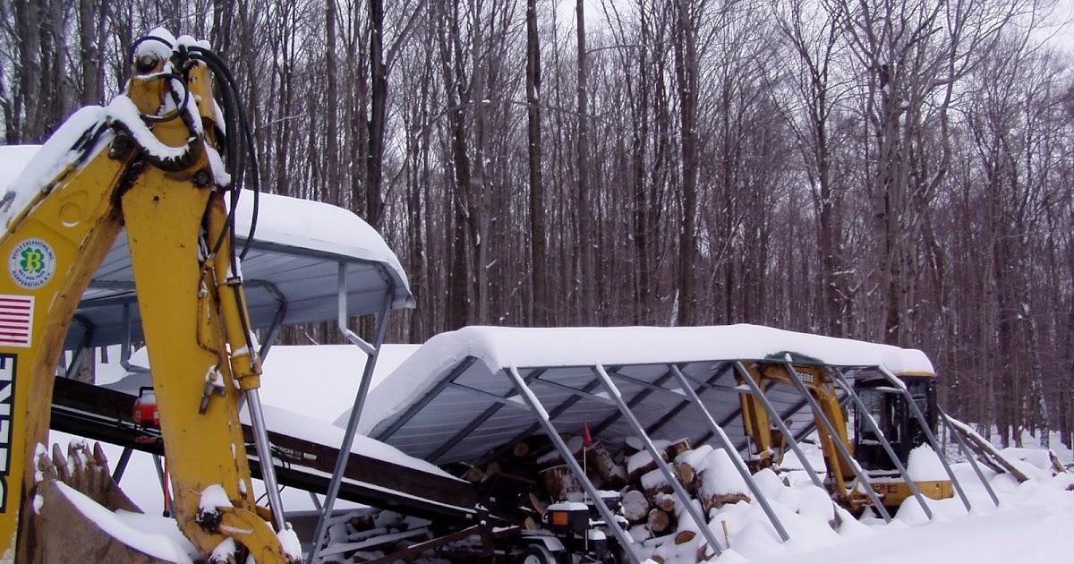 Carport snowload: Carport collapse