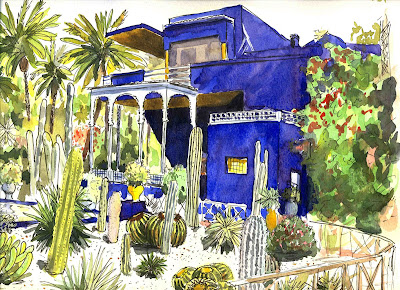 art of evrard de caqueray maroc marrakech jardin majorelle. Black Bedroom Furniture Sets. Home Design Ideas