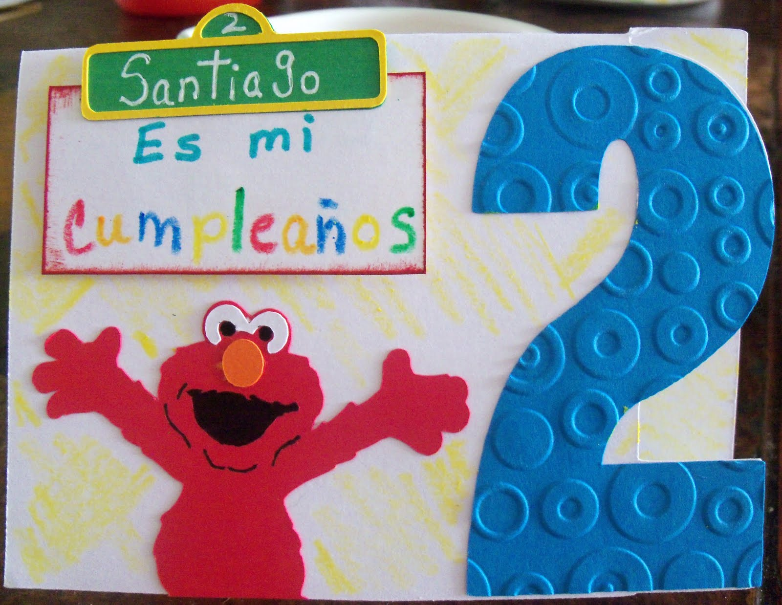 Crafty Dreams So Nando Manualidades Elmo Second B Day
