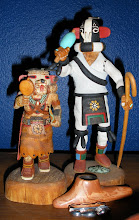 """Two Hopi Kachina and Hopi pipe"""