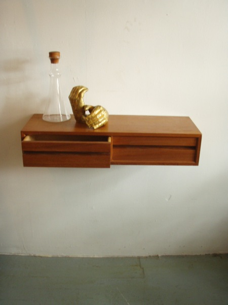 Floating Wall Shelves With Drawer