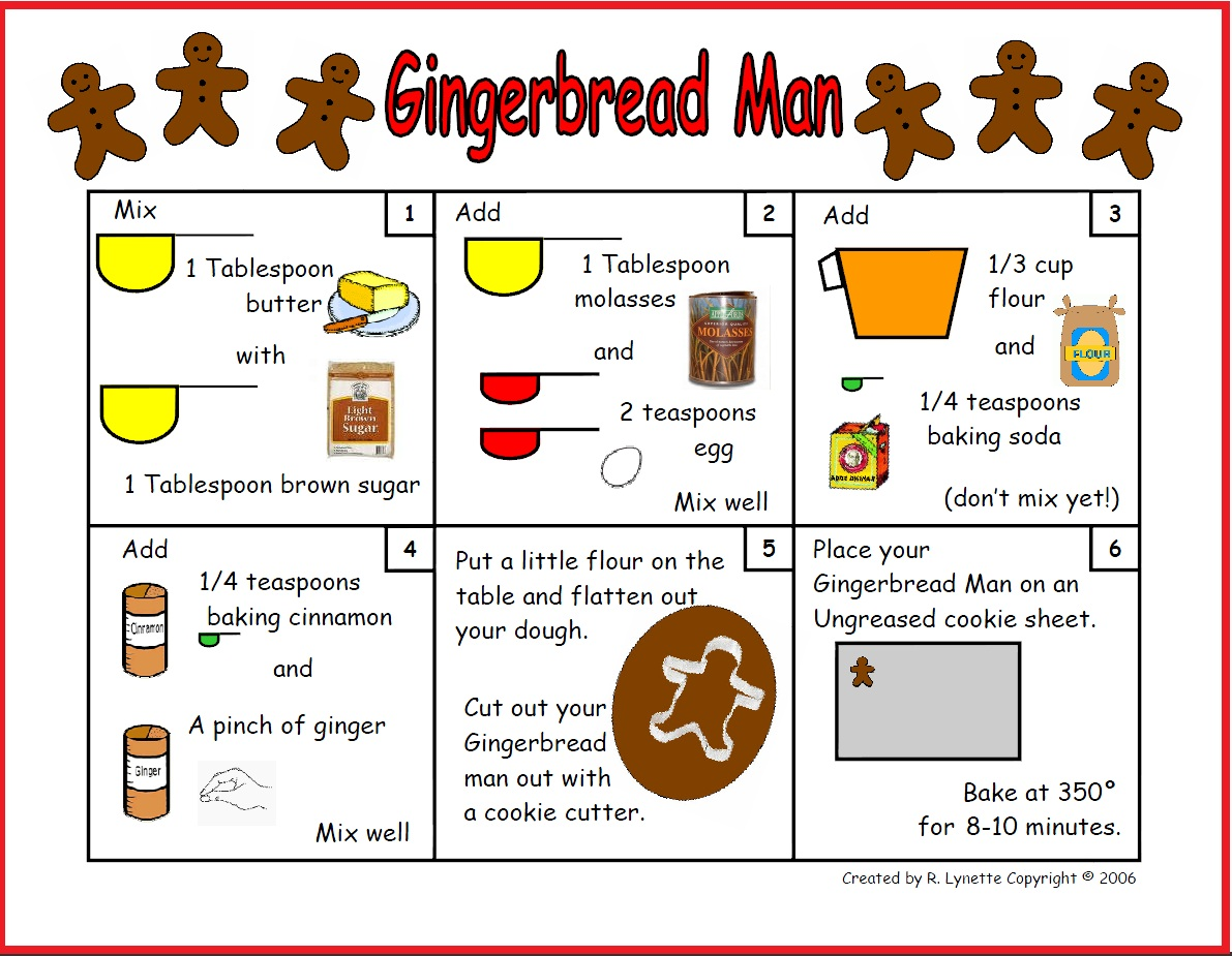 Gingerbread Man Recipe In Pictures