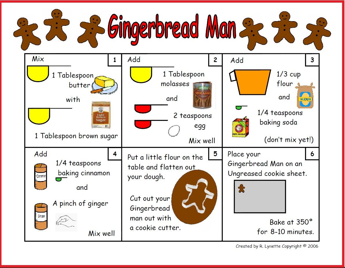 My English Class Gingerbread Man Recipe
