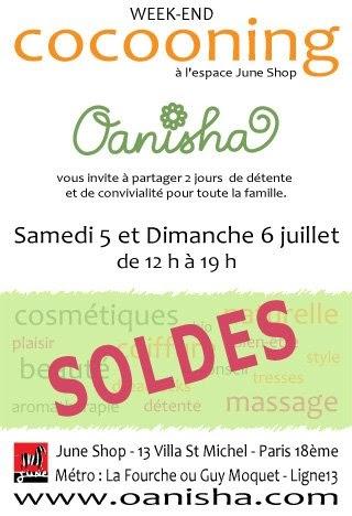oanisha cosm tique bio week end cocooning 5 et 6 juillet 2008. Black Bedroom Furniture Sets. Home Design Ideas