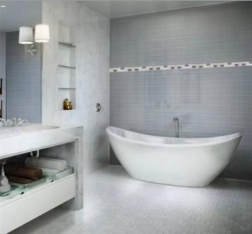 Fotos ba os modernos decoraci n y estilo de ba os for Diseno de banos con guardas verticales