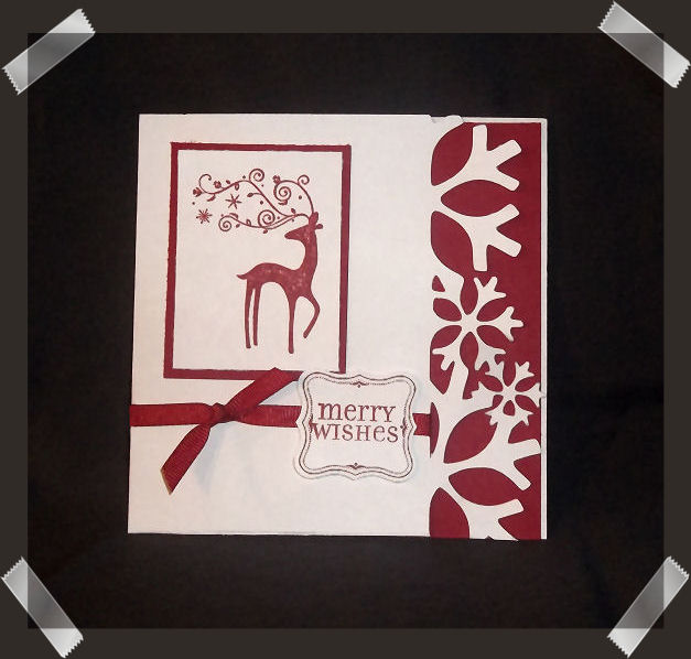 Covered In Crafts: Snowflake Christmas Card