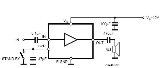 electronic error  tda7267 mono audio amplifier