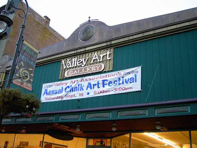 Valley Art's new sign.