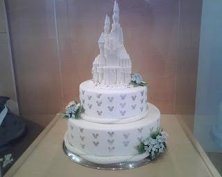 a Disney wedding cake