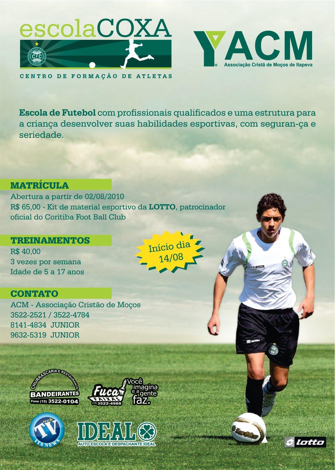140df14609 O Coritiba Futebol Clube está instalando em Itapeva um centro de formação  de atletas