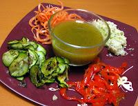 assiette de légumes en folie