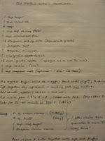recette originale manuscrite