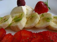 tartare bananes fraises