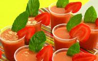 soupe froide melon fraises