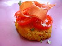 sablés, tomates, Parme