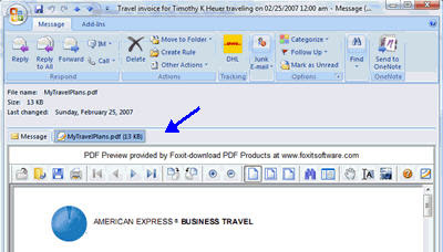 Adobe PDF in Outlook 2007