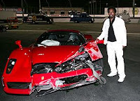 Eddie Griffin and his car