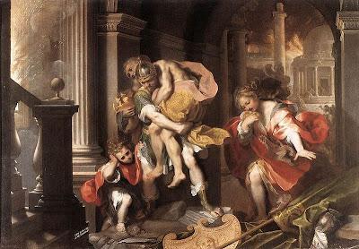 Eneas saliendo de Troya, Federico Barocci (1598)