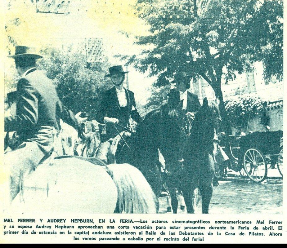 Audrey Hepburn en la Feria de Abril de Sevilla
