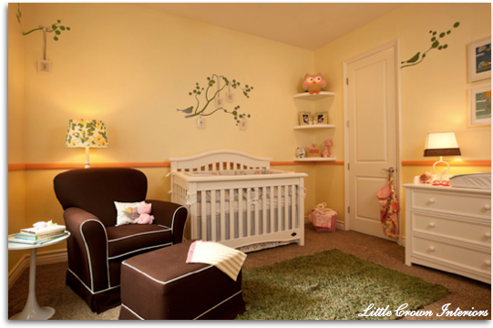 Custom nursery art by kimberly more rooms from little - Little crown interiors ...