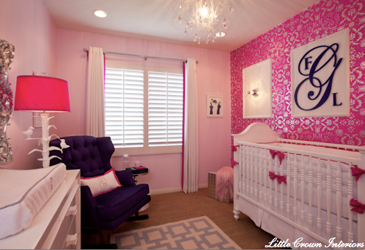 Custom nursery art by kimberly top baby girl nursery for Daughter room ideas