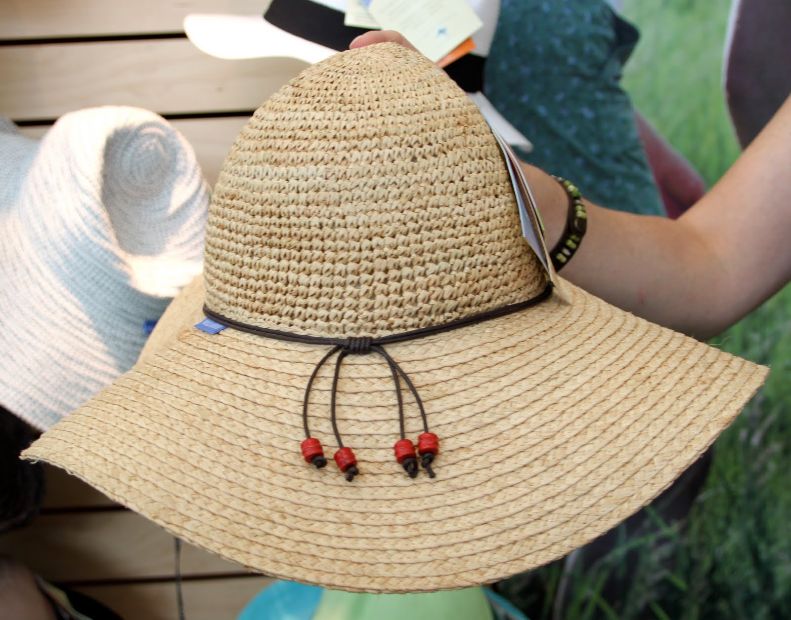a996a634429 The classic straw hat just took a more feminine twist with the Two Toned  Victoria---made of a sun blocking knitted polyester-poly straw that comes  in many ...