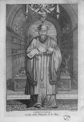 Confucius le plus célèbre des philosophes de la Chine Gravure ancienne