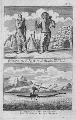 Esquimaux de la baie d'Hudson gravure ancienne