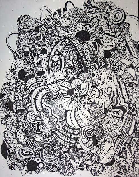Pin Ink Abstract