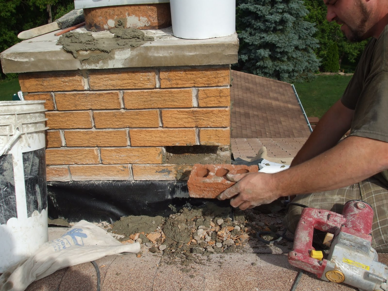 michigan fireplaces Brick Chimney Chimney Brick Spalling Repair