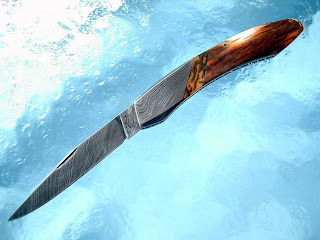 Terry Renner Handmade Knives - TR Blades*: Mammoth Ivory & Damascus