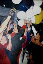 Juan Cristóbal Aguilar/La Fiesta/1987/Óleo sobre tela/