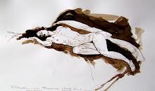 Jorge Posada Desnudo de Mujer/Tinta + Aguada/